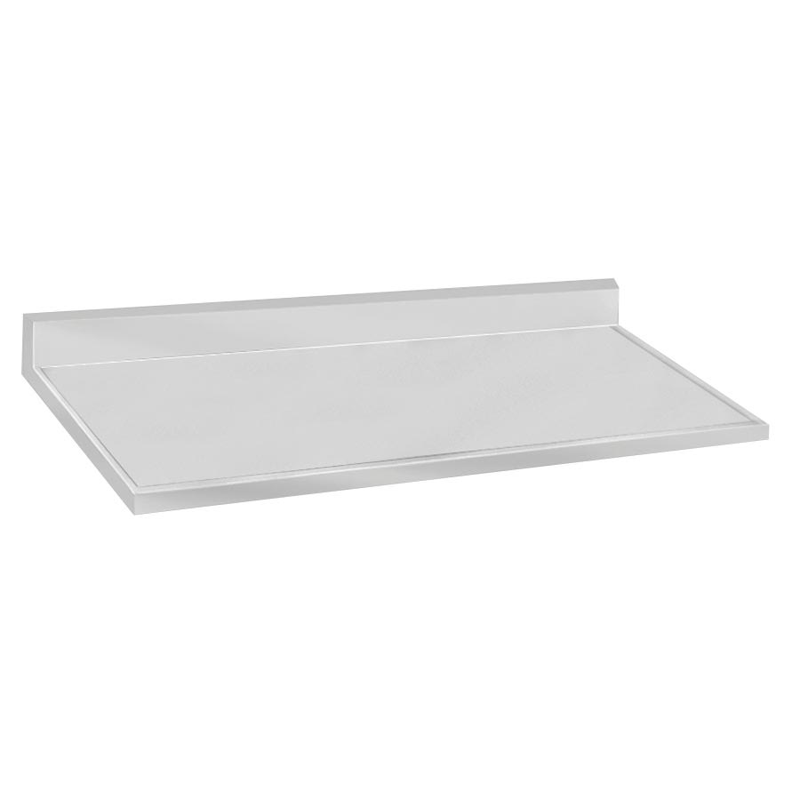 "Advance Tabco VCTF-2410 Countertop - 5"" Backsplash, 25x120"", 16-ga 304-Stainless, Satin Finish"