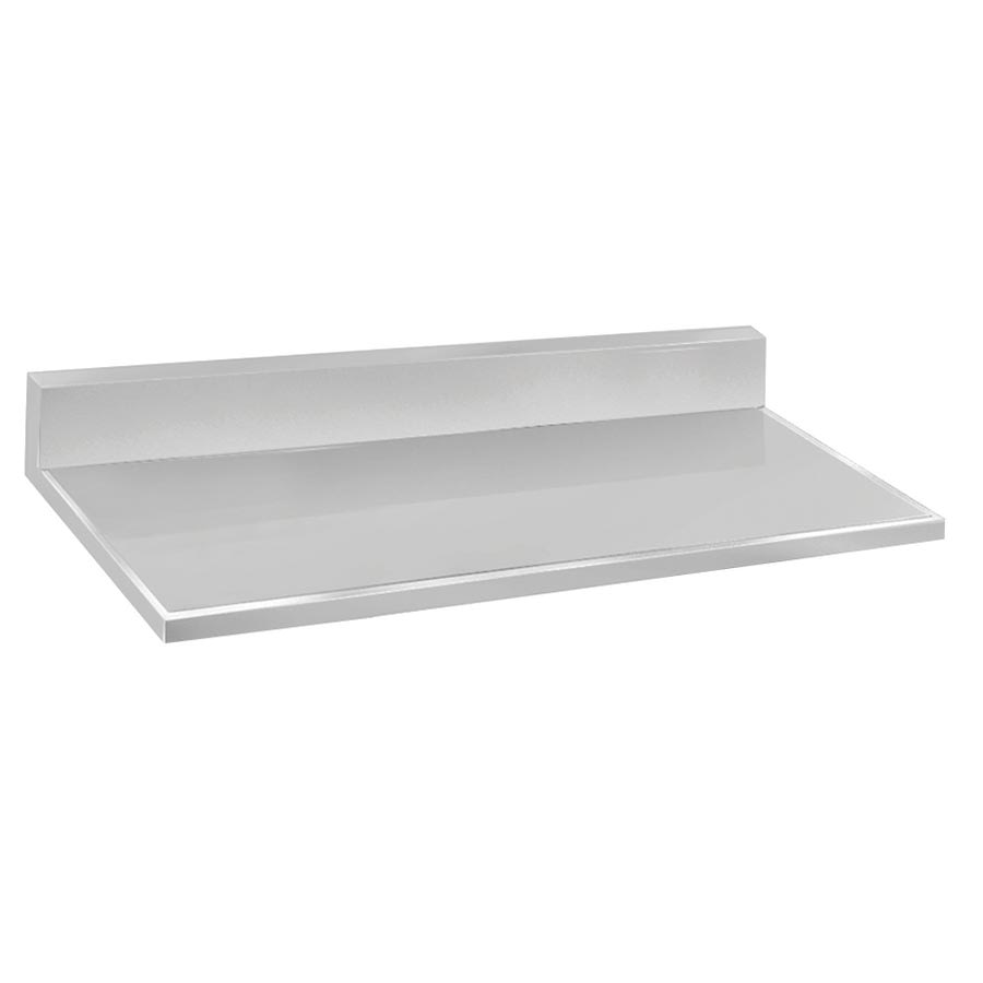 "Advance Tabco VKCT-247 Countertop - 10"" Backsplash, 25x84"", 16 ga 304 Stainless, Satin Finish"