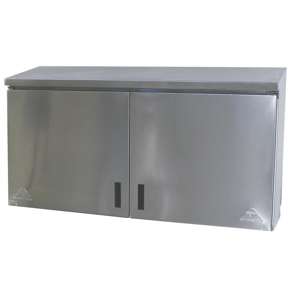 "Advance Tabco WCO-15-48 48"" Solid Wall Mounted Shelving Cabinet"