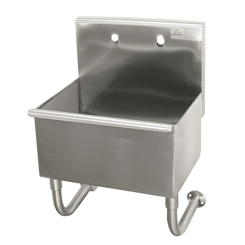 "Advance Tabco WSS-14-21 Wall Mount Commercial Hand Sink w/ 18""L x 14""W x 12""D Bowl, Basket Drain"