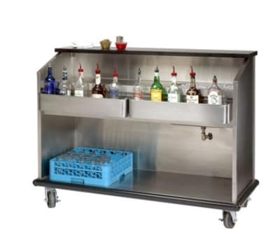 Advance Tabco AMD-5B-7 60-in Portable Bar w/ Enclosed Storage, Ice Bin w/ Cold Plate