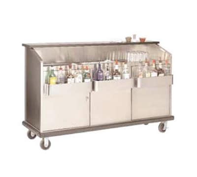 Advance Tabco AMS-6B-7 72-in Portable Bar w/ Open Storage, Ice Bin w/ Cold Plate