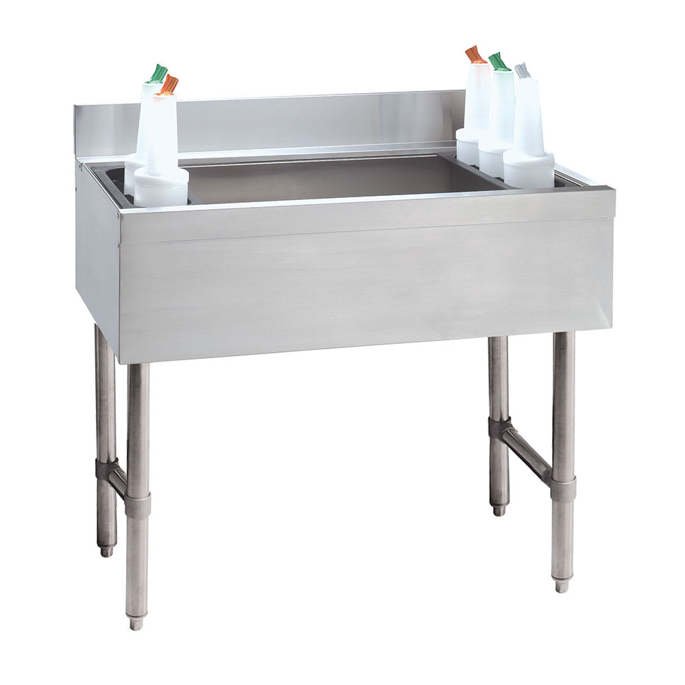 "Advance Tabco CRI-12-24-7 24"" Cocktail Unit w/ 100-lb Capacity Ice Bin, 21"" Front-Back"