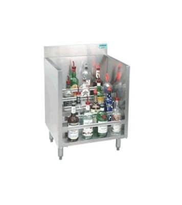 Advance Tabco CRLR-24-LC 24-in Liquor Display Rack w/ Locking Cover,  5-Bottles Per Tiered Step