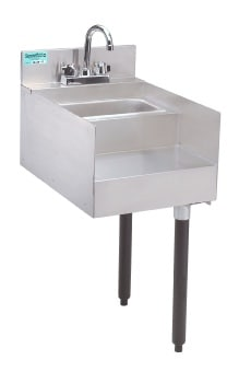 Advance Tabco CR-RS-15 Underbar Add-On Unit, 15 in Blender Station w/ Dump Sink