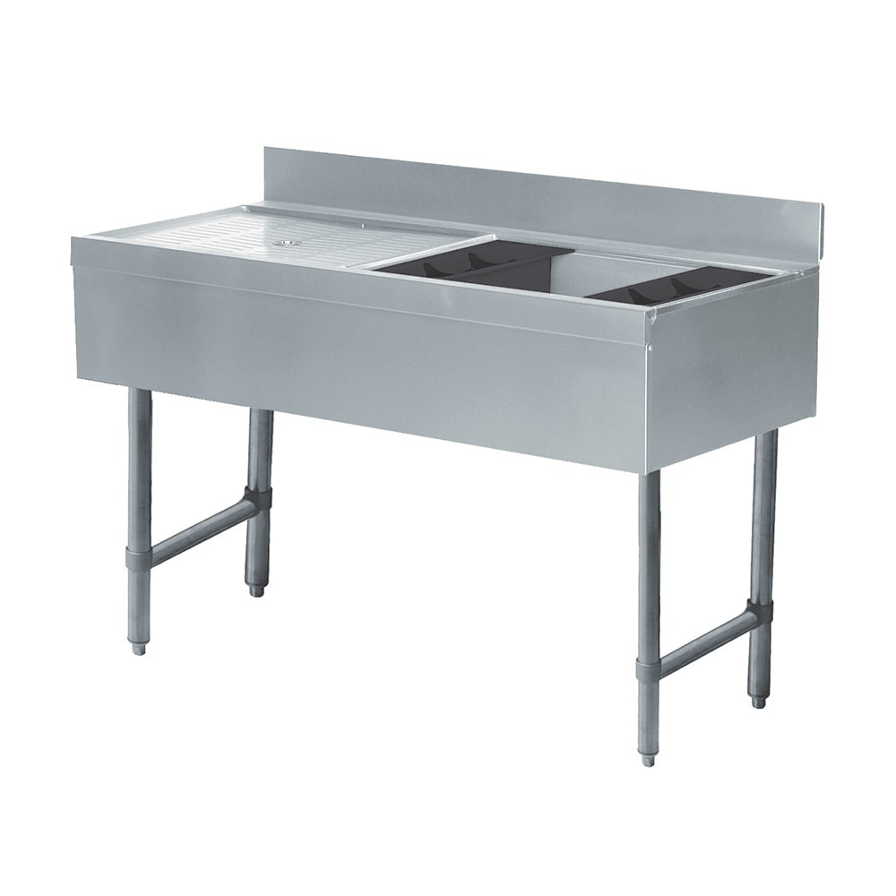 """Advance Tabco CRW-4R-7 48"""" Ice Bin Cocktail Station w/ Left Drainboard, Chest w/ Cold Plate"""