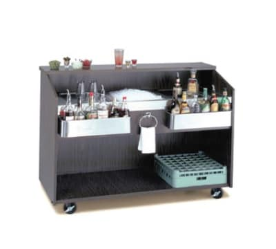 Advance Tabco D-B-7 Portable Bar w/ Ice Bin & Coldplate, Black Finish