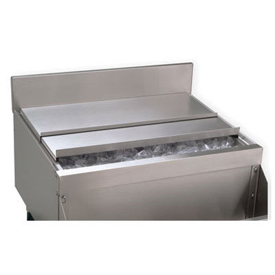 "Advance Tabco PRA-SSC-PT Sliding Cover for Pass-Thru Ice Bin, 19"" Series, Stainless"