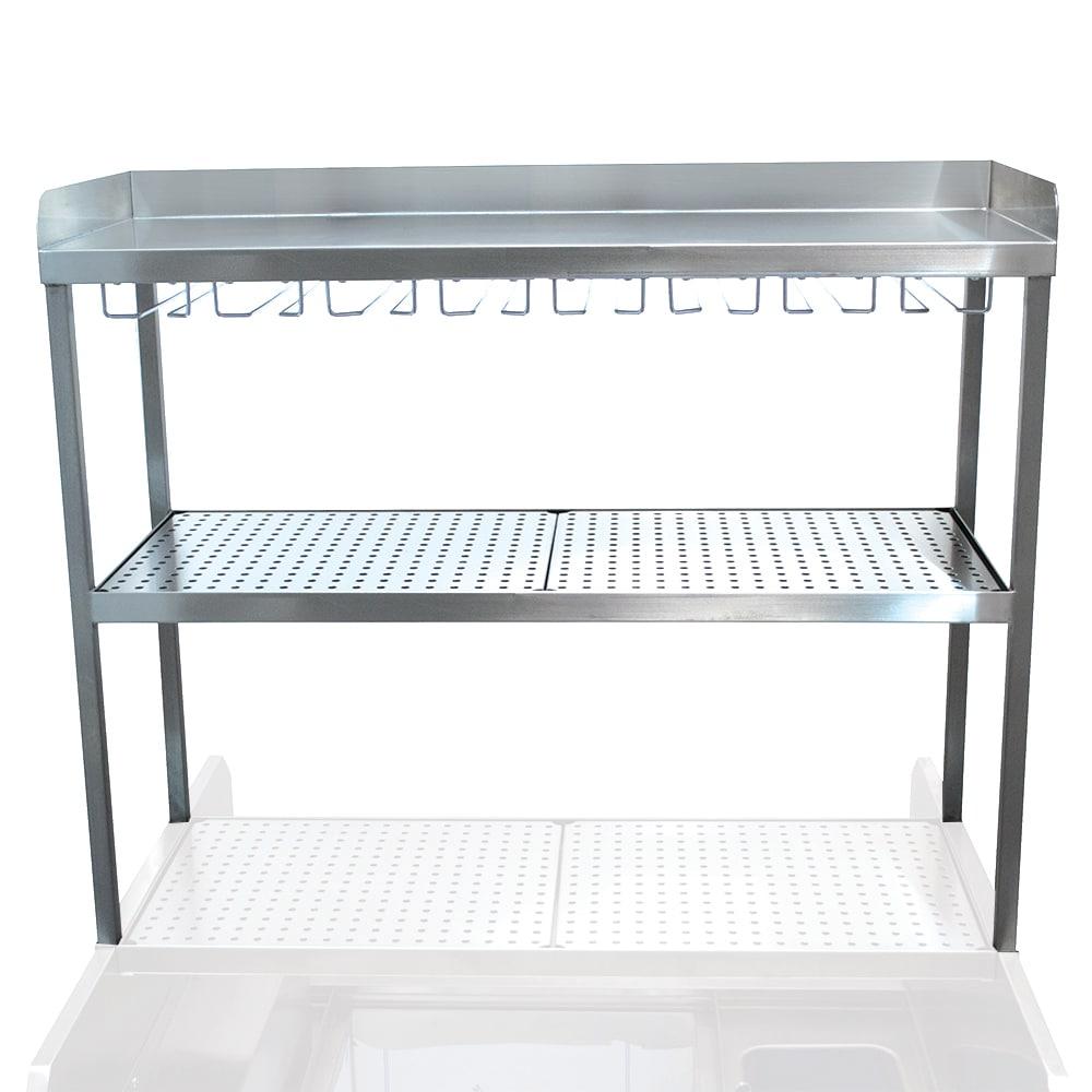 "Advance Tabco PRDO-44-G 44"" Prestige Double Table Mounted Overshelf w/ Stemware Glass Rack"