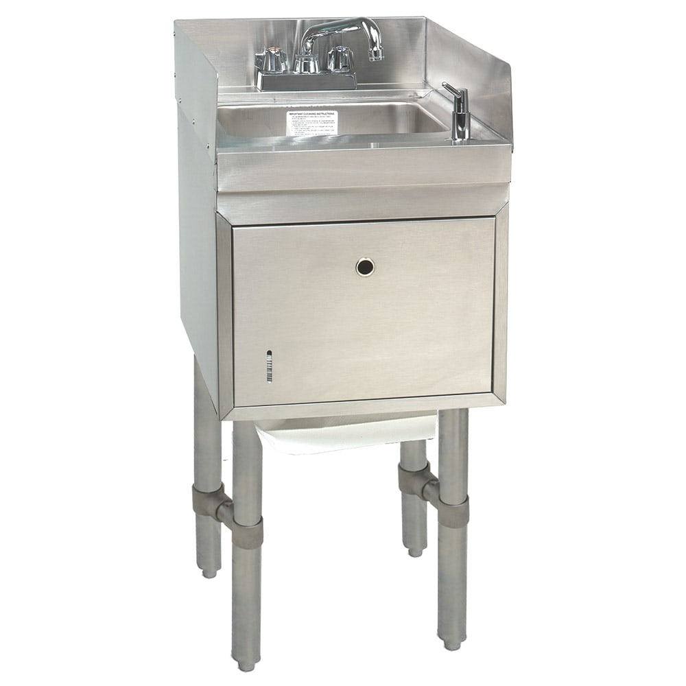"Advance Tabco SC-12-TS-S Commercial Hand Sink w/ 9""L x 9""W x 4""D Bowl, Side Splashes"