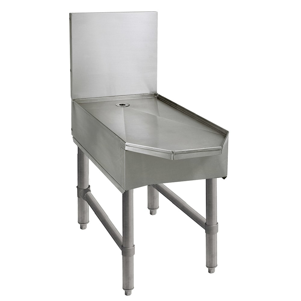 """Advance Tabco SCFD-30 30"""" Slimline Frozen Drink Machine Stand w/ Beveled Front, Holds 2-Units"""