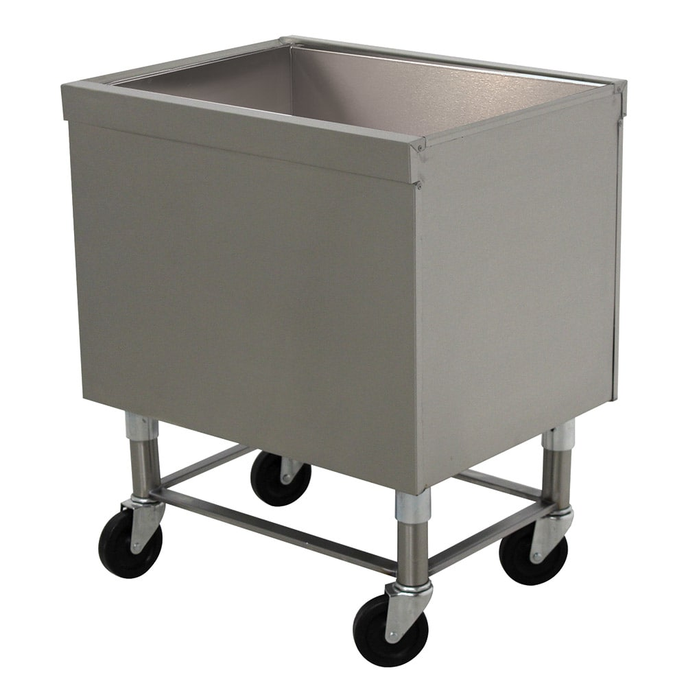 "Advance Tabco SCI-MIC-24 23"" Portable Ice Bin, Drain w/ Shut Off Valve"
