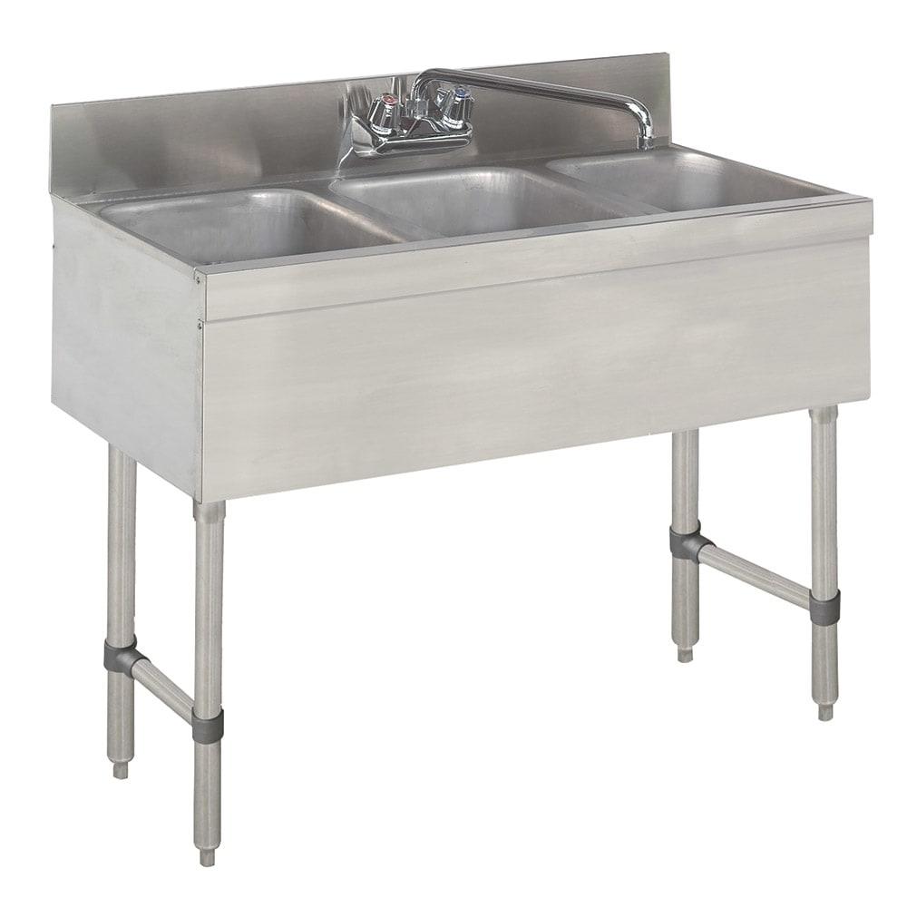"Advance Tabco SLB-33C 36"" 3 Compartment Sink w/ 10""L x 14""W Bowl, 10"" Deep"