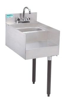 Advance Tabco SL-RS-15 Slimline Underbar Add-On Unit, 15 in Blender Station with Dump Sink