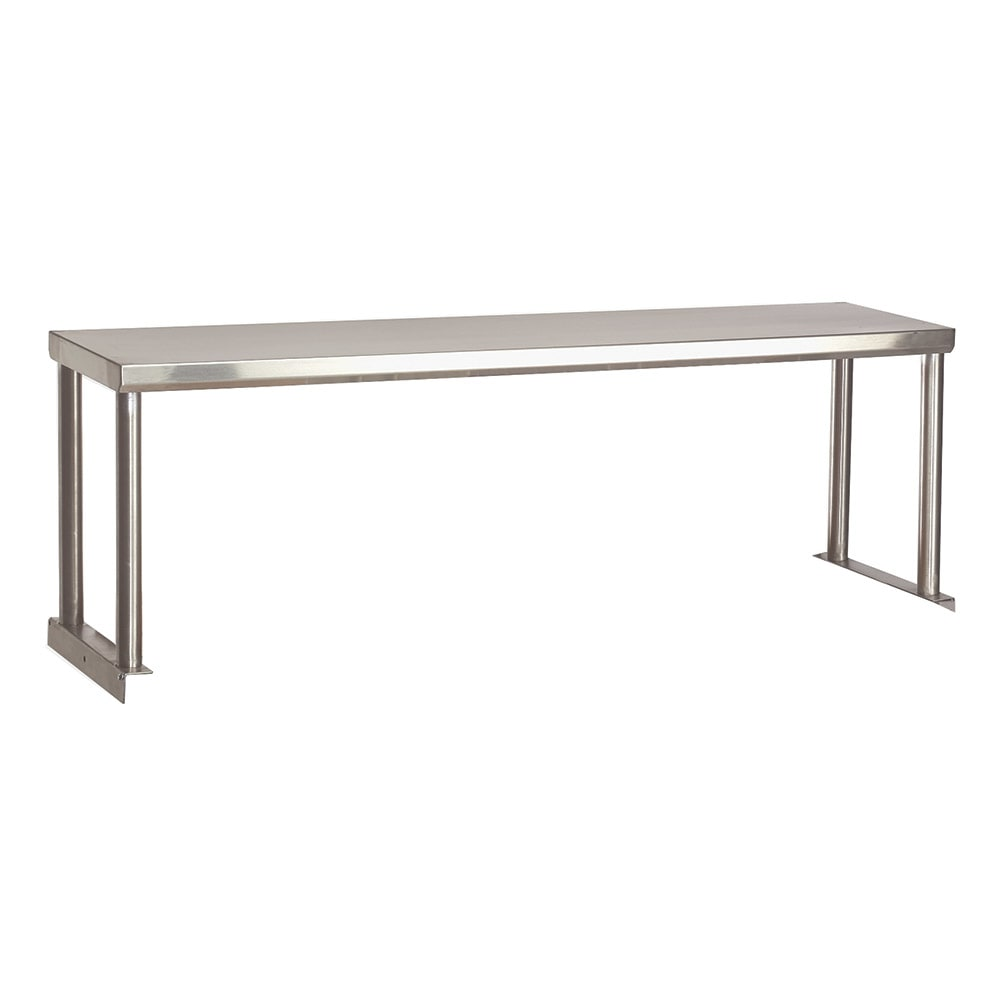 "Advance Tabco STOS-4-18 Single Table Mounted Overshelf, 62-3/8 x 18"", Stainless"