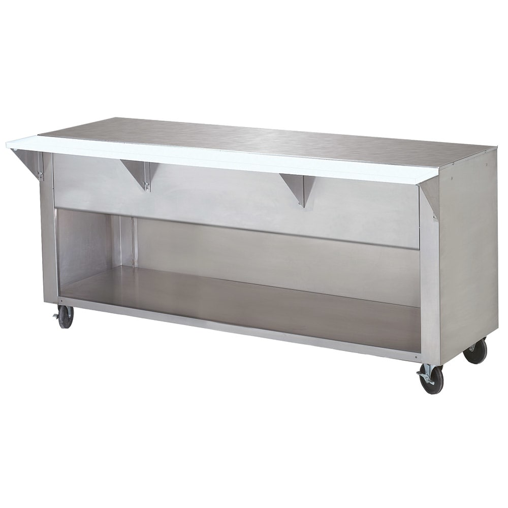 """Advance Tabco STU-5-BS Solid Top Table, Cabinet Base w/ Open Undershelf, 77 9/12"""", Stainless"""
