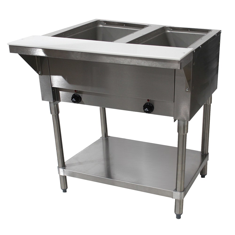"Advance Tabco SW-2E-120 Hot Food Table w/ 2 Wells, Infinite Control, 31 13/16"", Stainless"