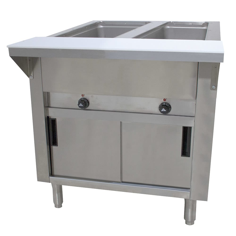 "Advance Tabco SW-2E-120-DR Hot Food Table w/ 2-Wells, Infinite, 31-13/16"", Enclosed Base w/ Doors"