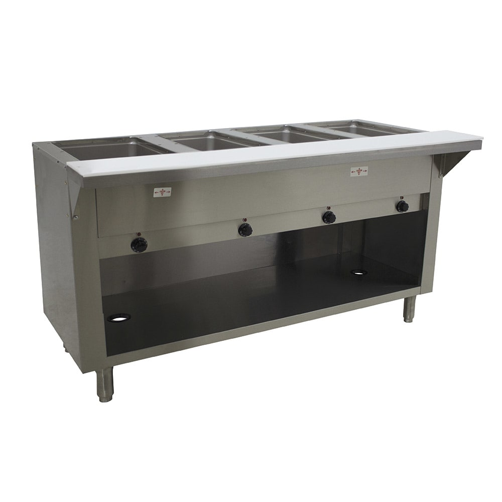 Advance Tabco SW-4E-120-BS Hot Food Table w/ 4 Wells, Infinite, Enclosed Base, 120V