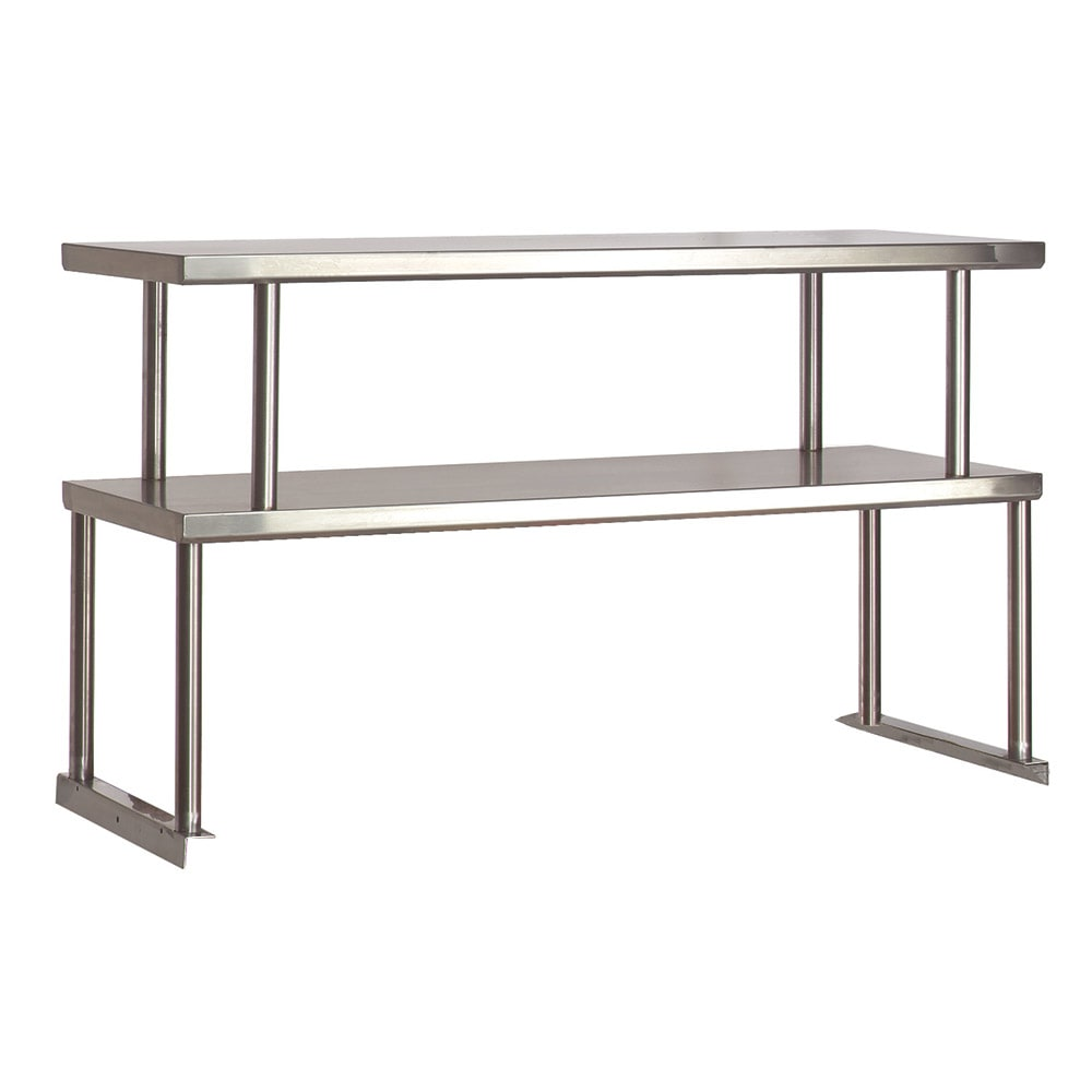 """Advance Tabco TOS-4 Double Table Mounted Overshelf, 62-3/8 x 12"""", Stainless"""