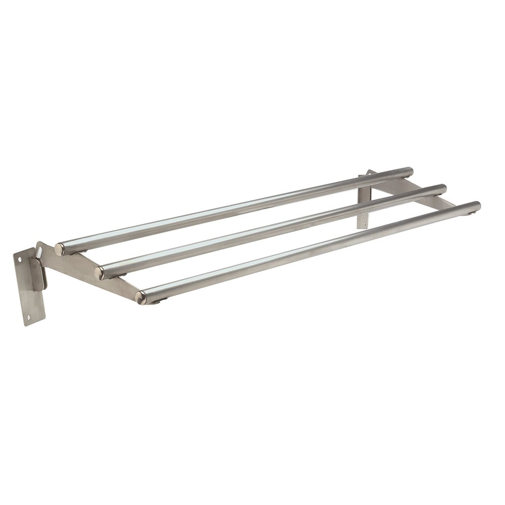 """Advance Tabco TTR-3D Drop-Down Tubular Tray Slide, 47 1/8"""", Stainless"""