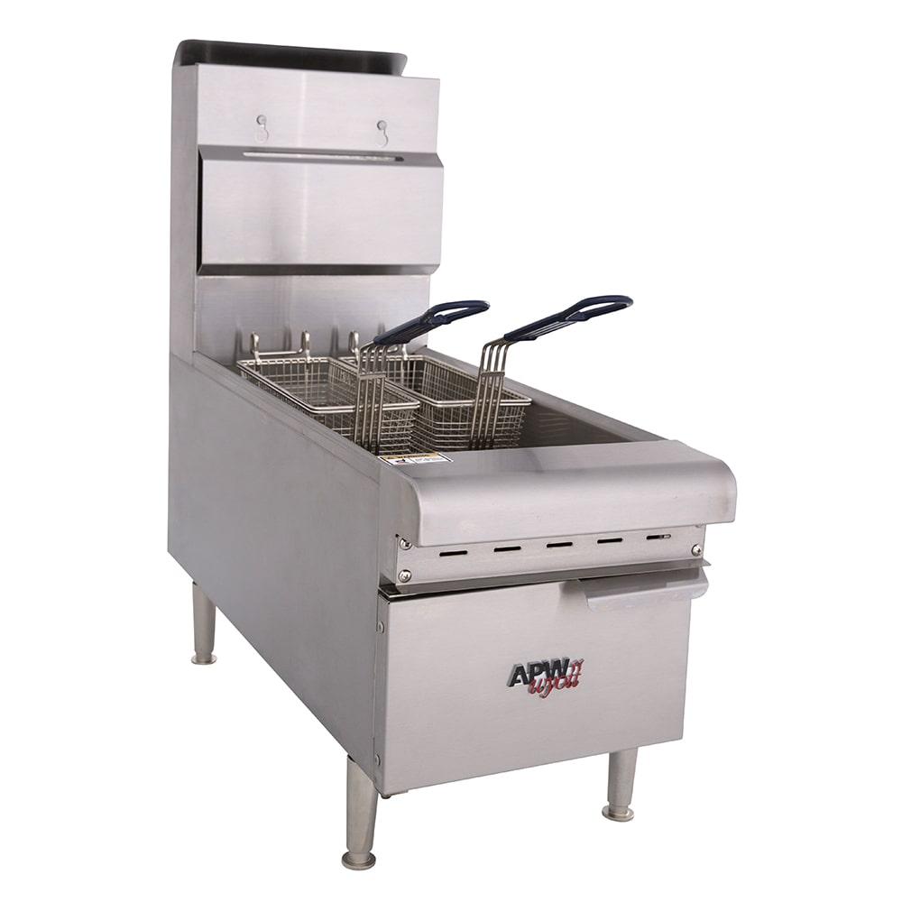APW APWF-25C Countertop Gas Fryer - (1) 25 lb Vat, NG
