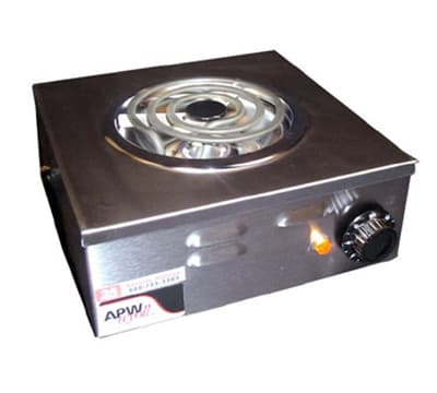 "APW CP-1A 10.88"" Electric Hotplate w/ (1) Burner & Infinite Control, 120v"