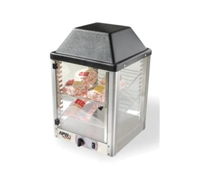"APW DWCI-14 14"" Self-Service Countertop Heated Display Case - (2) Shelves, 120v"