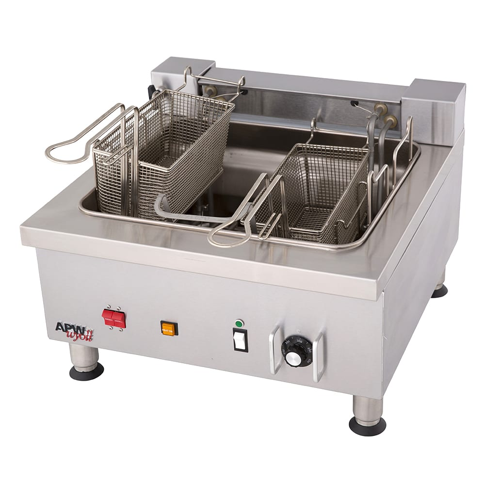 APW EF-30INT Countertop Electric Fryer - (2) 15 lb Vat, 208v/3ph