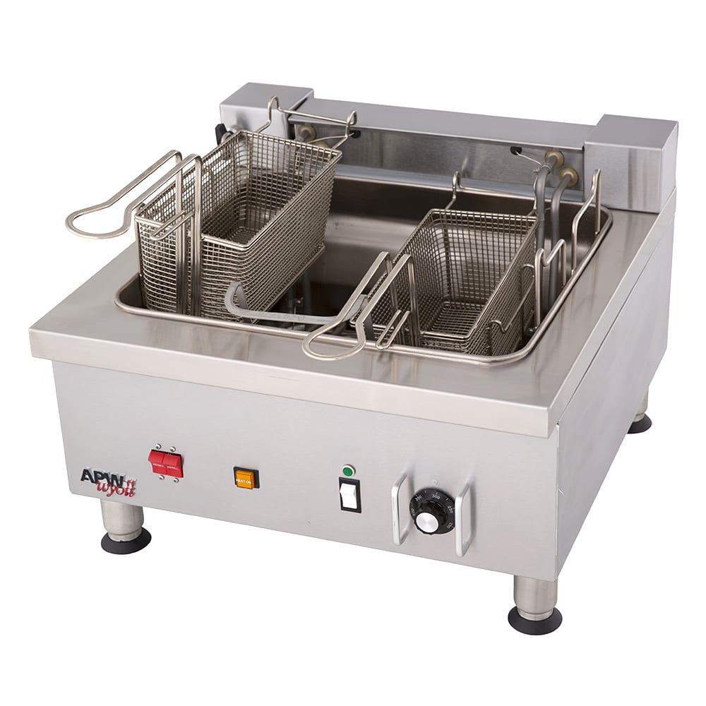 APW EF-30INT Countertop Electric Fryer - (2) 15-lb Vat, 208v/3ph