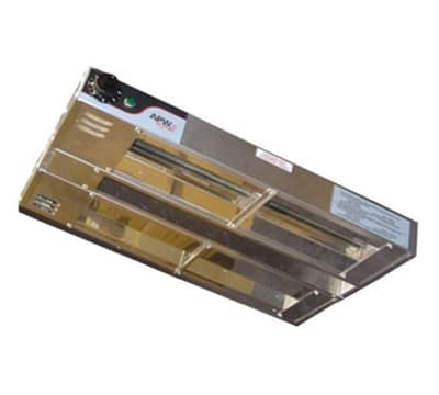 "APW FDD-54H-I 54"" Heat Lamp - Double Rod, Infinite Control, 240v/1ph, 2850w"