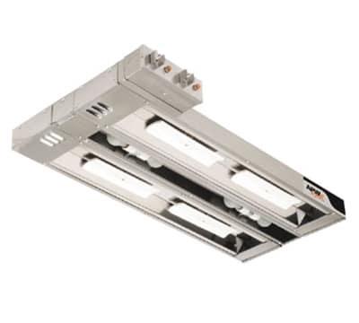 "APW FDDLC-60H 60"" Heat Lamp, Double Rod, Sidebox Toggle, 240v/1ph"