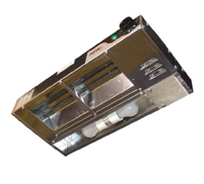 """APW FDL-48L-I 48"""" Heat Lamp, Single Rod, 960 Low Watt, Infinite Control, 120 V"""