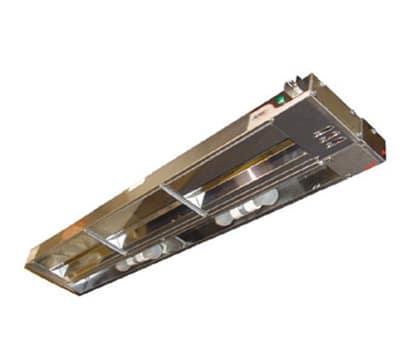 """APW FDL-48L-T 48"""" Heat Lamp, Single Rod, 960 Low Watt, Toggle Control, 208v/1ph"""