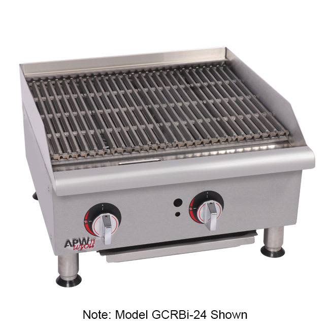 """APW GCRB-48I 48"""" Gas Radiant Charbroiler w/ Cast Iron Grates, 4 Burners, NG"""