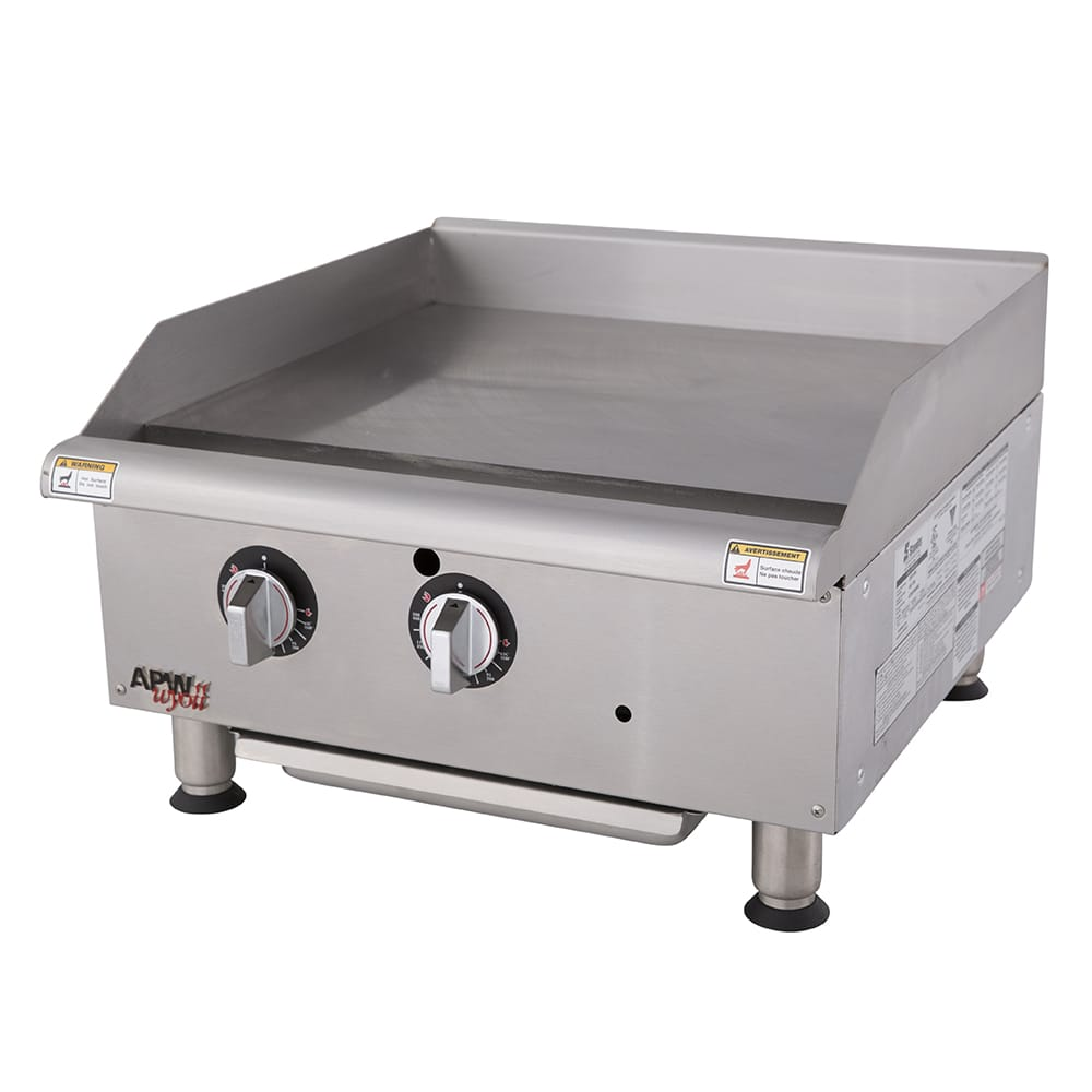 """APW GGT-24I 24"""" Gas Griddle - Thermostatic, 1"""" Steel Plate, LP"""