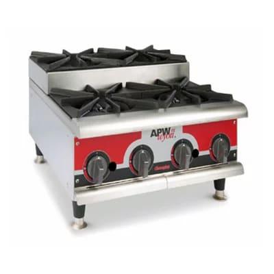 "APW GHPS-4I 24"" Gas Hotplate w/ (4) Burners & Manual Controls, LP"