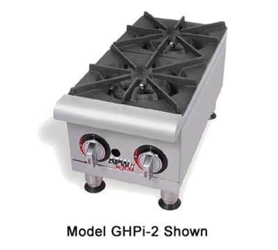 """APW GHPW-2I 24"""" Gas Hotplate w/ (2) Burners & Manual Controls, NG"""