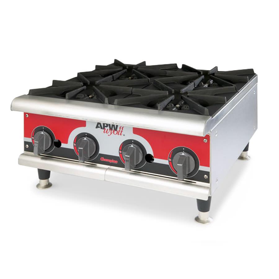 """APW GHPW-3I 24"""" Gas Hotplate w/ 3 Burners, Manual Controls, NG"""