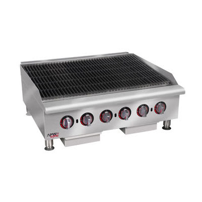 "APW HCB-2436I 36"" Radiant Charbroiler w/ Cast Iron Grates, NG"