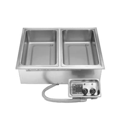 APW HFW2D Wet Dry Drop-In Hot Food Well Unit w/ 2-Pan Size, Infinite Controls