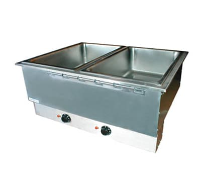 APW HFWAT-2D 2-Pan Drop In Hot Food Well, Drain & Attached Control, 208v/1ph