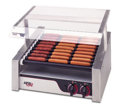 APW HRS-50S 50 Hot Dog Roller Grill - Slanted Top, 208v/1ph