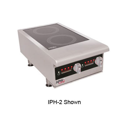 APW IHP-2 Countertop Commercial Induction Cooktop w/ (2) Burners, 208/240v/3ph