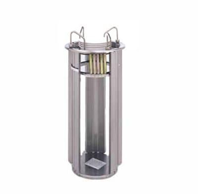 "APW L-9A Deluxe Drop In Dish Dispenser w/ Open Frame, 1 Tube, Max 9 1/8"" Dish"