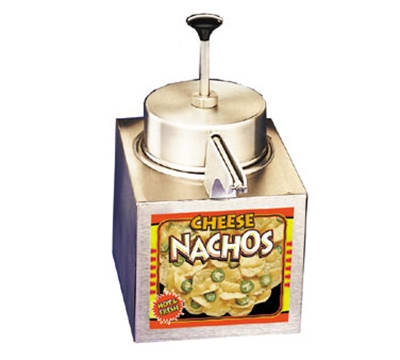 APW LCCW Lighted Pump Type Nacho Cheese Warmer, For #10 Cans, Stainless, 120 V
