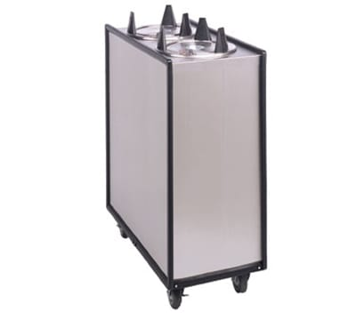 APW ML2-10 Lowerator Dish Dispenser, Two Tubes, Maximum Dish 10-1/8 in, Stainless