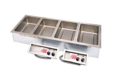APW SHFWEZ-4D Drop-In Food Warmer w/ (4) Full Size Pan Capacity, 208v/1ph