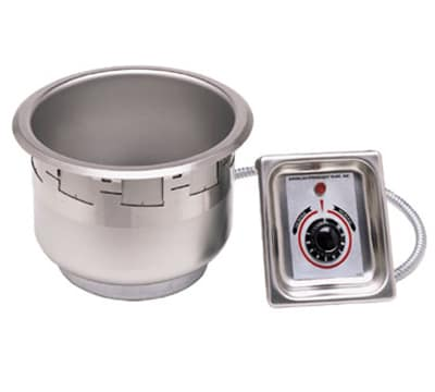 APW SM-50-11D UL 11 Qt Drop In Food Warmer, Drain, Wet or Dry, Stainless, 208v/1ph