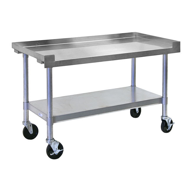 "APW SSS-48C 48"" x 24"" Mobile Equipment Stand for General Use, Undershelf"
